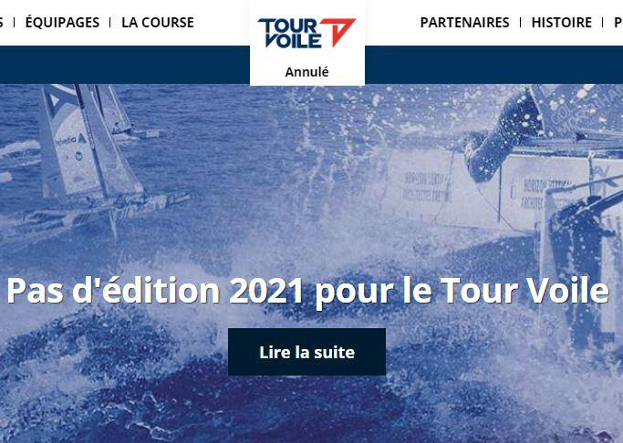 Pas d'édition 2021 pour le Tour Voile